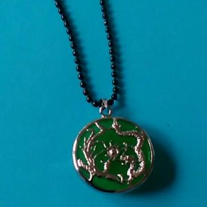 Other - Jade dragon unisex  necklace 26 inch chain